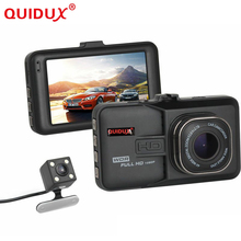 QUIDUX Newest Mini Car DVR Camera Camcorder Dual Lens Dash Cam Two camera 1080P Full HD Video Registrator G-sensor Night Vision