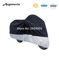Universal S XXXXL Motorcycle Covers Black Silver Motorbike Cruiser Scooter Hood Tent Outdoor Covering Moto Cover