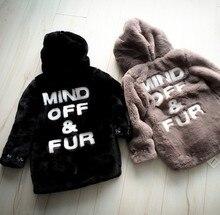 Children fur overcoat boy baby girls warm coat