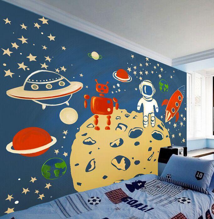 Large Wall Murals Kindergarten Background Wall Wallpaper Children Room  Seamless 3D Non Woven Wallpaper To