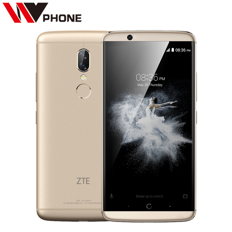 Original ZTE Axon 7s Mobile Phone Snapdragon 821 Quad Core 5.5 2560X1440 WQHD 4g RAM 128G ROM 20.0MP Fingerpeint NFC