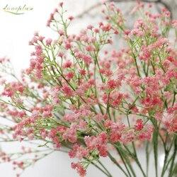 80 mini cabeças 1 pc diy artificial da respiração do bebê flor gypsophila falso planta de silicone para decorações de festa de casamento em casa 8 cores