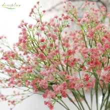 loveplus 1PC DIY Artificial babys breath Flower Gypsophila Fake Silicone plant for Wedding Home Party Decorations 3 Colors
