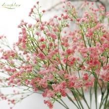 Mini cabezas artificiales de Gypsophila, plantas de silicona falsa para adornos de fiesta doméstica de boda, 8 colores, 1 unidad