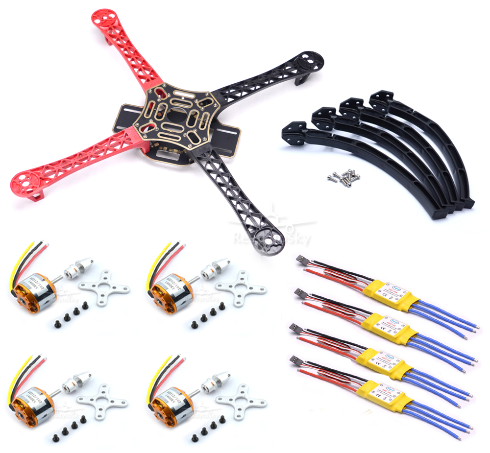 F450 450mm Multi-Copter Quadcopter Rack Kit Frame + 2212 1000KV Motor + 30a Brushless ESC for S500 S550 4set lot universal rc quadcopter part kit 1045 propeller 1pair hp 30a brushless esc a2212 1000kv outrunner brushless motor