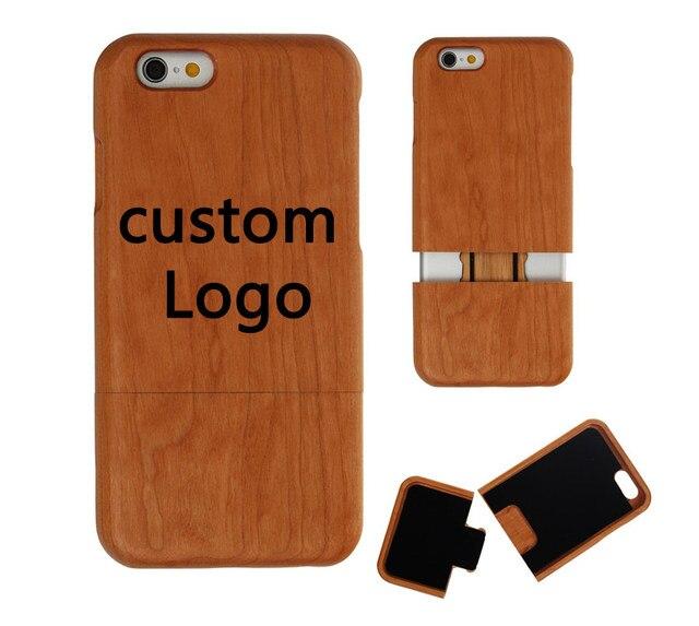 50 pcs LOGO personnalisé gratuit housse en bois naturel pour iPhone 5 5 S 6 6 s 6 Plus coque de téléphone peut coque de Protection LOGO entreprise ...