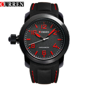 Curren Relojes Hombre left-hander Wrist watch quartz men luxury famous brand Quartz Clock Vogue men Wristwatch rubber new