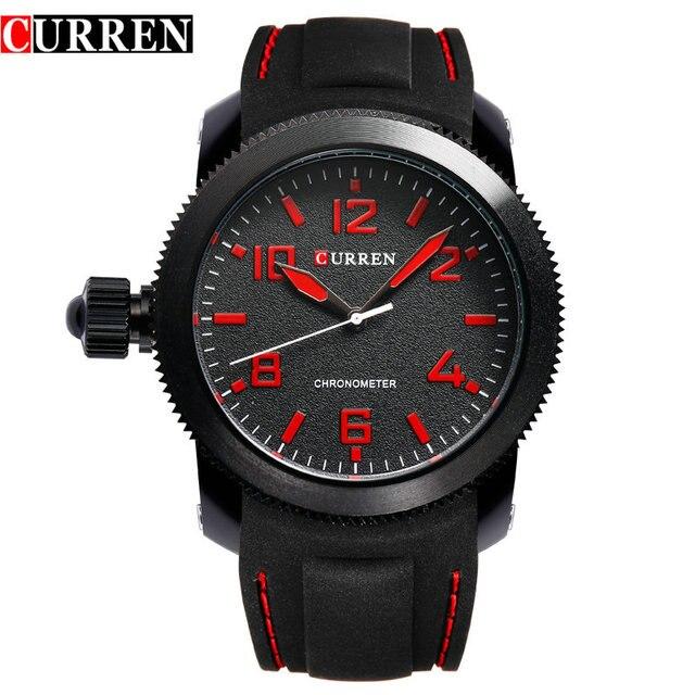 Curren Relojes Hombre left-hander Wrist watch quartz men luxury famous brand Quartz Clock Vogue men Wristwatch rubber new