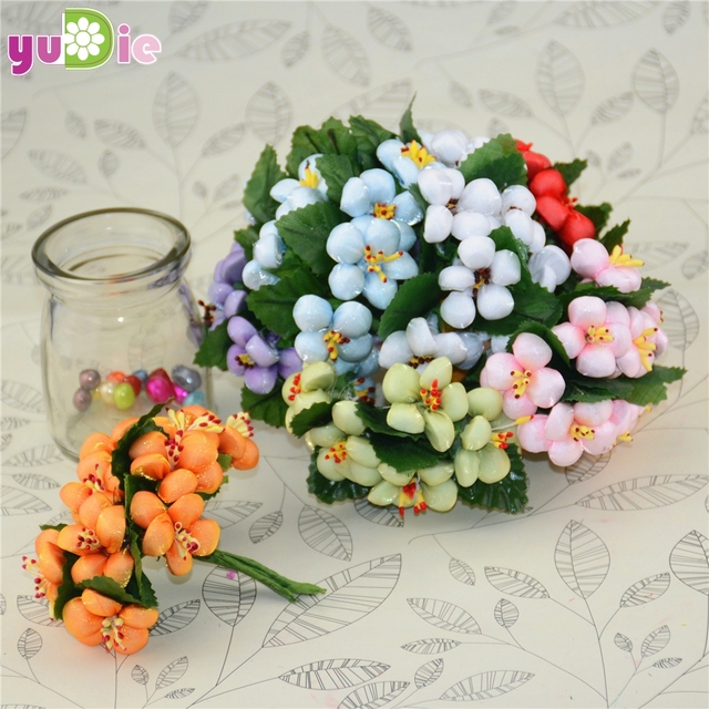 10pcs/lot Silk Cotton Artificial Flower Bouquet For Wedding ...
