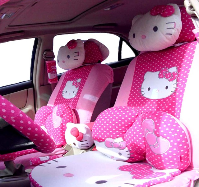 buy 29 pcs perfect styling universal hello kitty car seat covers set universal. Black Bedroom Furniture Sets. Home Design Ideas