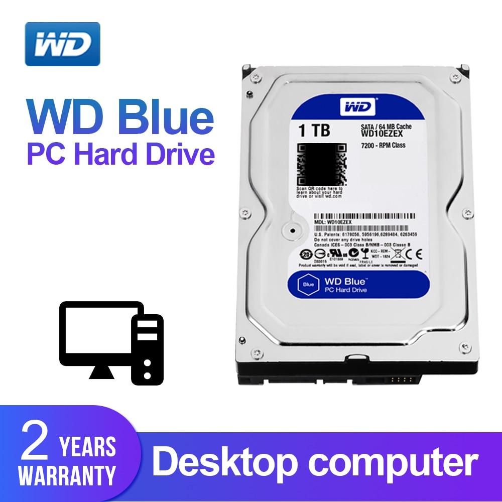 1 TB WD Blu 3.5 SATA3 Desktop hdd 6 GB/s HDD sata disco rigido interno 64 M 7200PPM hard drive desktop hdd per PC WD10EZEX