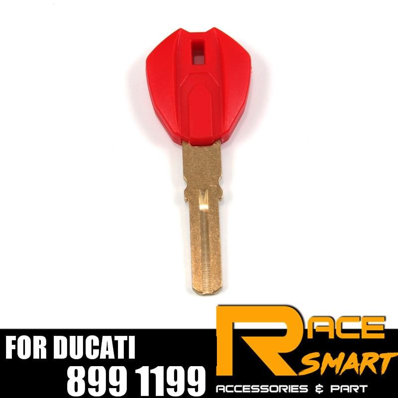 Motorcycle Uncut Blank Key For Ducati 899 1199 Blade Keys Rings MOTORCYCLEKEY