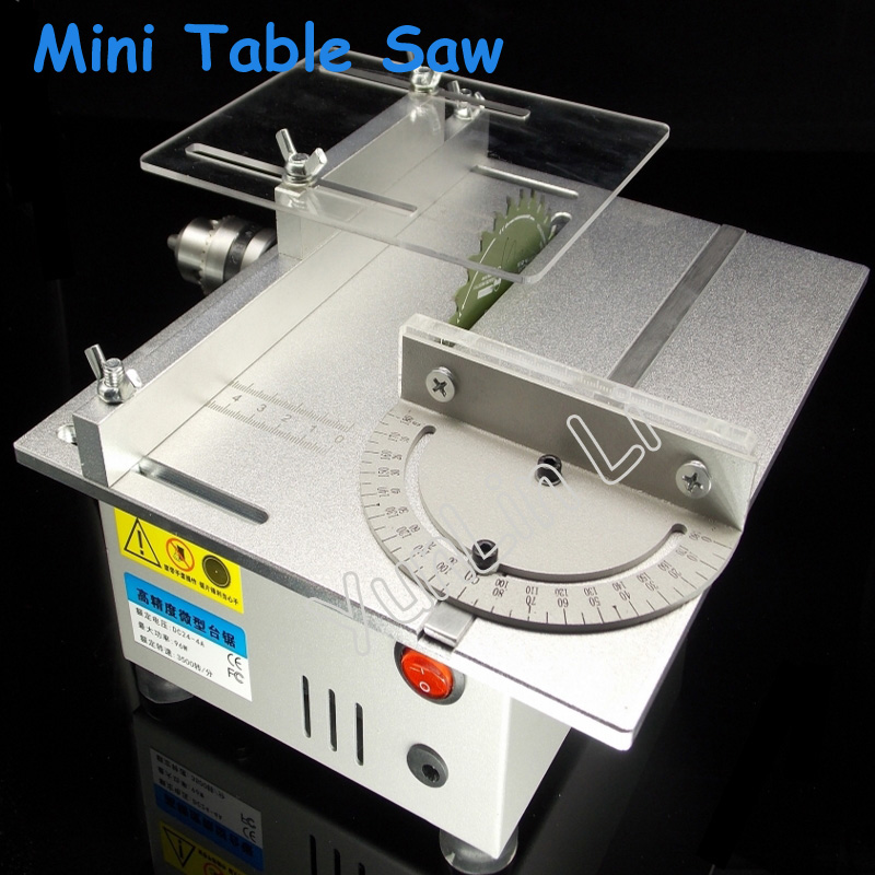 Mini Table Saw Precision Cutting Machine Electric Drill Multifunctional Small Woodworking Table Saw Electric Grinder T4