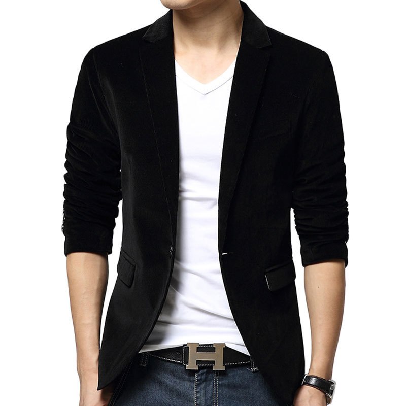 Men Black Blazer Photo Album - Reikian