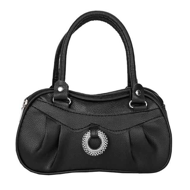 41c3f61af1 HTNBO Pure color Handbag women leather handbags Women Fashion Shoulder Bag  Lady Tote Ladies Purse for Wedding bolsas de couro  F