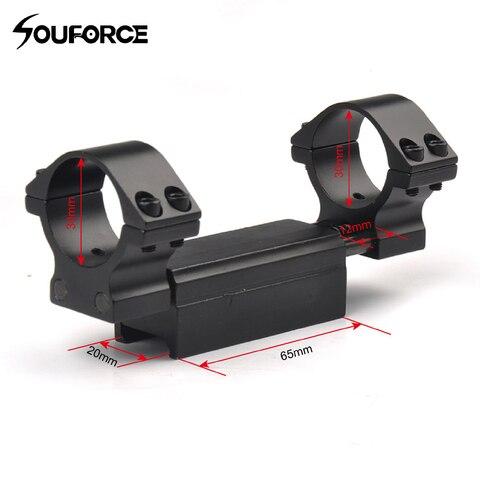 Flexível do Anel Trilho de Picatinny 30mm do Escopo da Montagem para o Tecelão de 20mm e o Trilho Diâmetro Picatinny de