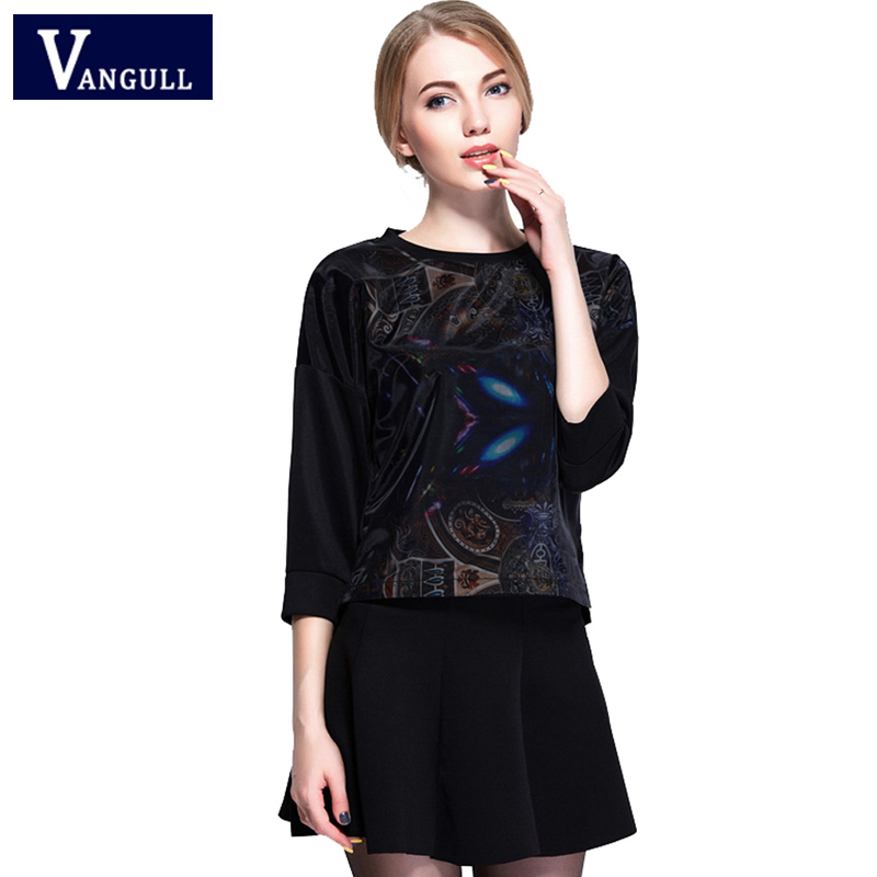 Ladies suit 2018 Autumn Winter casual wear long sleeved printed Tops blouse and mini skirt ladys two dress suit