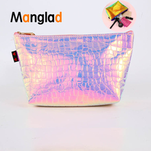 Women New Hologram Holographic Pencil Pen Case Bag Cosmetic Makeup Storage Bags Purse Waterproof PU Make Up Travel Bag for Girl