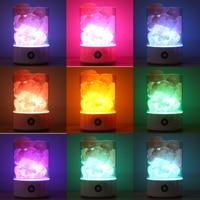 94*94*141mm LED Crystal Light Natural Himalayan Salt Night Light Mood Creator Atmosphere Lamp Indoor USB Warm Light Lava Lamp