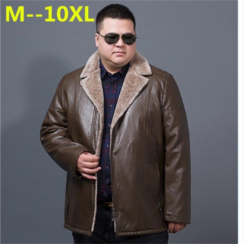 10XL 9XL 8XL 6X Winter Men Geniune Leather Jacket Male Lapel Cashmere Coat Men Sheepskin Warm Jacket Male Brand Top Quality Coat