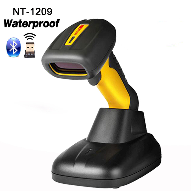 High quality waterproof wireless Handheld Scanner 1D laser Barcode Reader high speed wireless barcode scanner for Supermarket