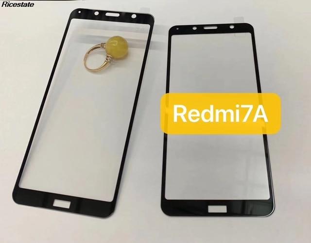 Redmi 7A couvercle complet verre trempé pour Xiaomi Redmi7A protecteur décran 9H sur téléphone film pour Xiaomi Redmi 7A étui en verre