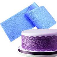 Fleur dentelle Silicone tapis pour Fondant Embosser Surafcraft Texture dentelle moule accessoires pâte à sucre gâteau décoration outil H779