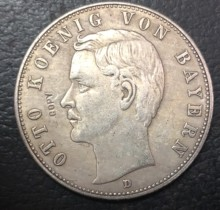 1908-D Kingdom of Bavaria 5 Mark-Otto Silver Plated Copy Coin(China)