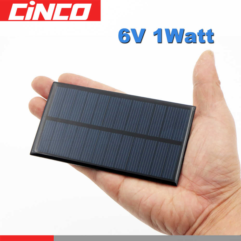 6 V 1 Watt extend wire Solar Panel Polycrystalline Silicon DIY Battery Charger Small Mini Solar Cell cable toy W 6V 1W W Volt