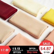 Шифоновая ткань по метрам, Тюлевая полиэфирная ткань для платья, однотонная вискозная ткань, модная одежда, DIY ручной швейный материал