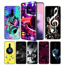 DDJ DJ Music Soft Black Silicone Case Cover for OnePlus 6 6T 7 Pro 5G Ultra-thin TPU Phone Back Protective