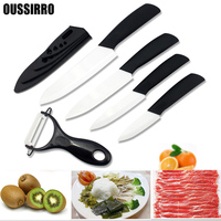 5Pcs Set Ceramic Knife Set Ceramic Knife Peeler Knife Cover 3 4 5 6 Kitchen Knife