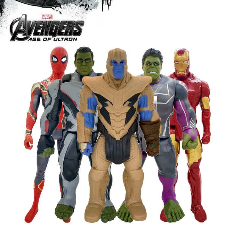30 centímetros Brinquedos Vingadores Thanos Maravilha Hulk Buster Do Homem Aranha Homem De Ferro Capitão América Thor Wolverine Action Figure Bonecas Pantera Negra