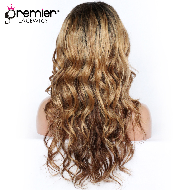 PREMIER LACE WIGS Youtube Guru Simplynessa15 Long Glamorous Ombre Wavy Human Hair Lace Front Wigs [CLFW-07-Simplynessa15]