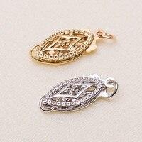 Genuine 14K hollow cut lace clasp necklace chain bracelet jewelry clasp DIY accessory