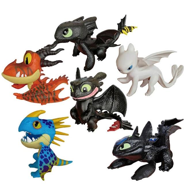 Como treinar O Seu Dragão Desdentado Fúria Desdentado Brinquedos Action figure Luz Para Presentes de Aniversário das Crianças