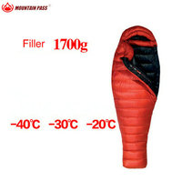 mountainpass Summit 40 Fahrenheit Down Sleeping Bag 850 Fill Power 3 Season Mummy Ultralight Camping Hiking with compress bag