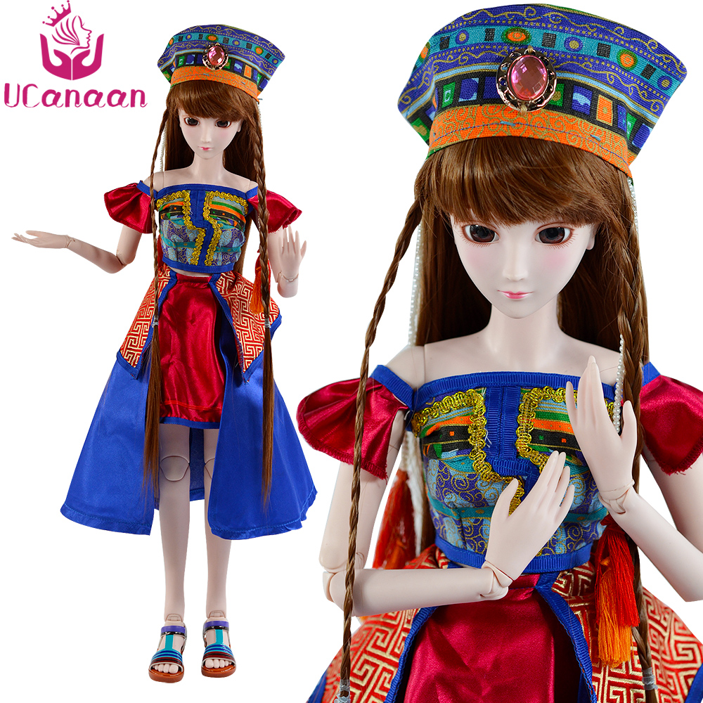 Ucanaan 1/3 Large BJD SD Doll 60CM Dress Up Toys New Arrival Movable Joints Body SD Dolls Best Birthday Gift For Girl Collection 60cm bjd 1 3 dolls 23 inches handmade fuyao baiqian huaqiangu doll large joint sd princess doll girls toys birthday gift
