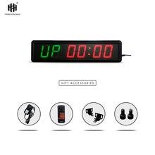 Большой размер Многофункциональный светодиодный спортивный таймер обратного отсчета светодиодный дисплей часы обратного отсчета Табата тренировочный таймер HIT6-2.3(2G6R