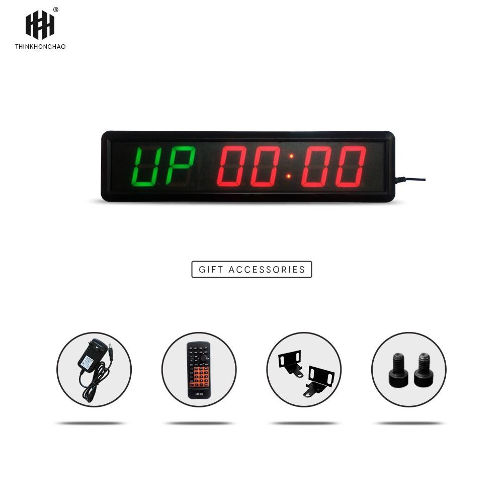 Grande taille multi-fonction LED gym sport compte à rebours minuterie led affichage compte à rebours horloge Tabata formation minuterie HIT6-2.3 (2G6R)