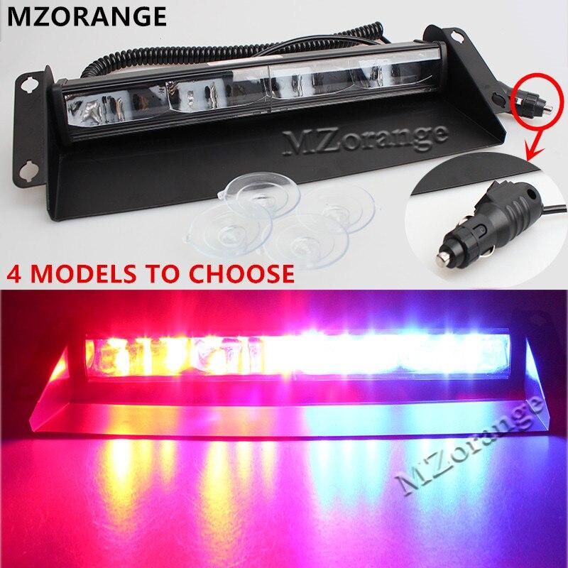 Universal 12 LED 24V 36W Car Warning Light Red Blue White Truck Flash Light Police Strobe