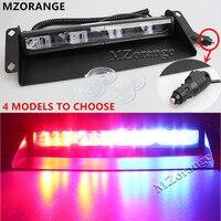 Universal 12 leds 24v 36W Car Warning Light Red Blue White Truck Flash Light Police Strobe Light Dash Windshield Emergency Light