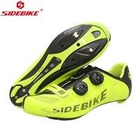 SIDEBIKE дороги углерода Велоспорт обувь Для мужчин Для женщин Гонки обувь дорожный велосипед Сверхлегкий дышащий Открытый спортивный велосип