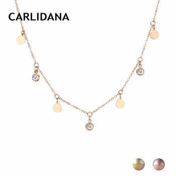 b0be27538291 Collar de acero inoxidable para mujer collar de cadena de Color dorado con  colgantes Mejores Regalos para la amistad joyería de moda