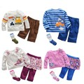 Baby infant cartoon suits 3 pcs sets girls boys cool lovely jumpsuits long sleeve T shirt+pants+socks