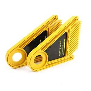 Image 5 - Многоцелевой набор досок Loc для перьев, двойные перьевые пластины, калибровочный слот, деревообрабатывающий гравировальный инструмент для циркулярных пил