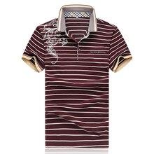 Polo Slim Fit Men 2016 Spring Polo Shirts For Men Striped Dragon Print Mens Brand Polo Shirt M- XXXXL 5XL D0170