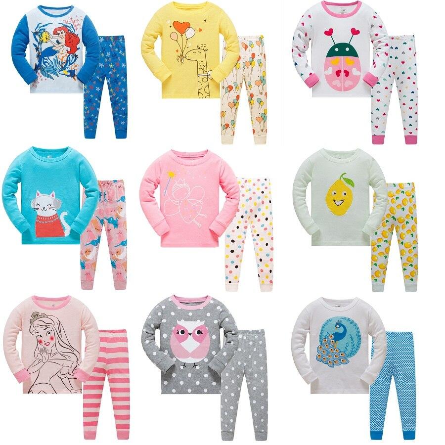 2019 Kinder Herbst Pyjamas Kleidung Set Mädchen Cartoon Nachtwäsche Anzug Set Kinder Lange ärmeln + Hose 2-stück Baby Kleidung