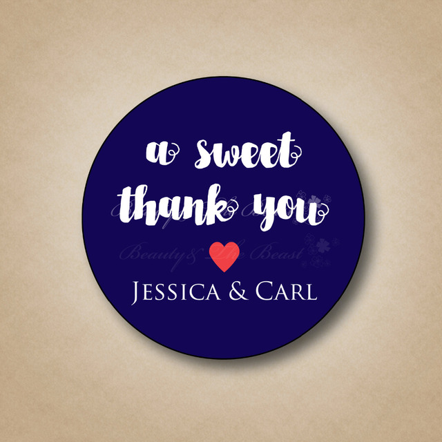 Custom Wedding Thank You Stickers Bottle Labels Cupcake Toppers Tags Candy Box