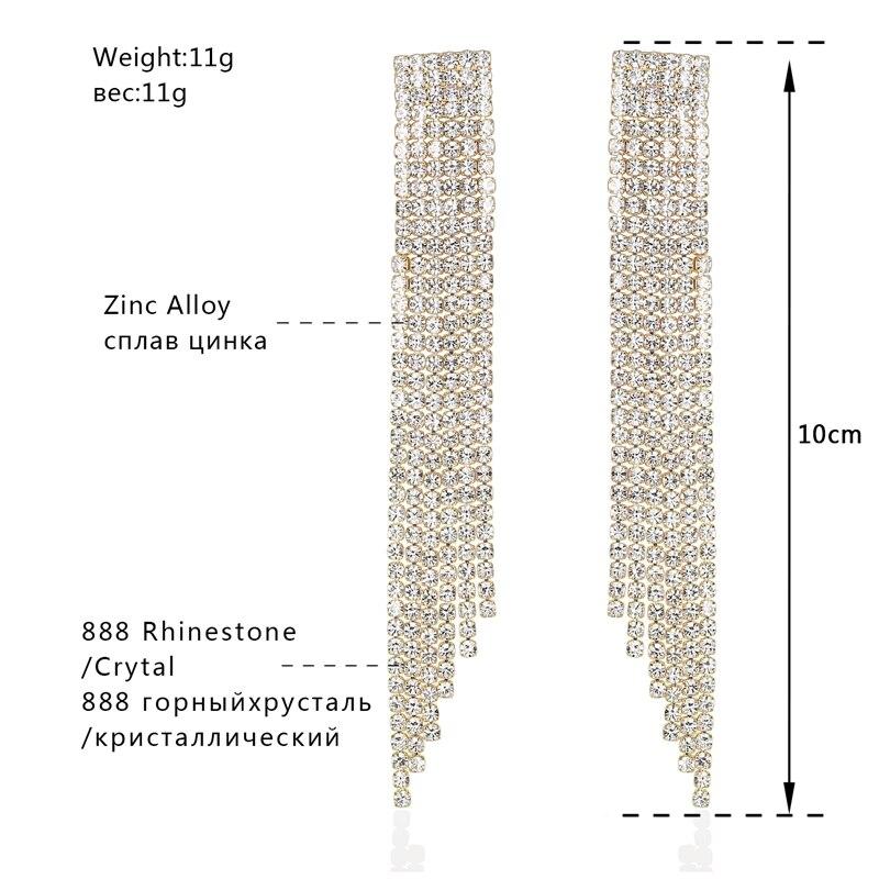 Minmin Mewah Warna Emas Kristal Pernikahan Jewelry Set untuk Wanita - Perhiasan fashion - Foto 4